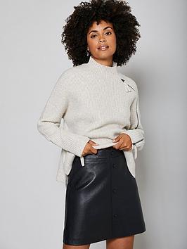 mint-velvet-leather-mini-skirt-black