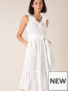 monsoon-ruffle-neck-dress-white