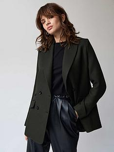 mint-velvet-double-breasted-blazer-dark-green