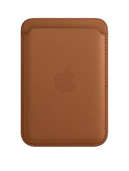 Apple Iphone Leather Wallet With Magsafe - Saddle Brown