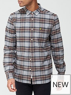 lyle-scott-brushed-check-shirt