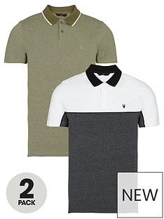 very-man-2-pack-textured-pipped-polo-khakicharcoal