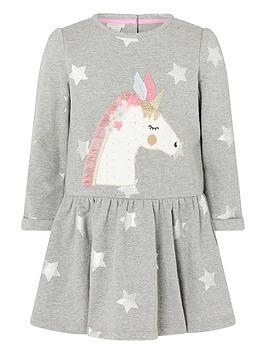 monsoon-baby-girls-unicorn-star-sweat-dress-grey