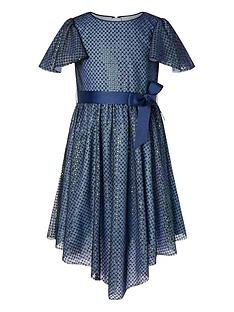 monsoon-girls-sequin-flutter-sleeve-dress-navy