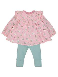 monsoon-baby-girls-ditsy-woven-set-pink