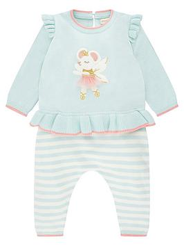 monsoon-baby-girls-mouse-knitted-set-aqua