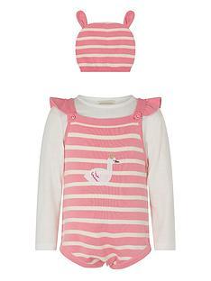 monsoon-baby-girls-swan-knitted-romper-set-pink