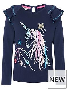 monsoon-girls-sew-rainbow-unicorn-long-sleeve-top-navy