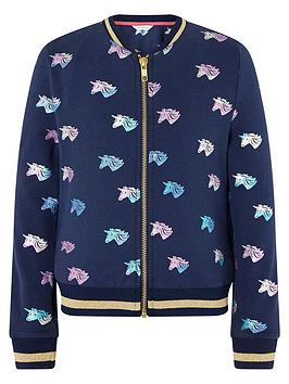 monsoon-girls-sustainable-rainbow-foil-unicorn-bomber-jacket-navy