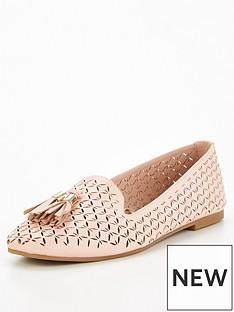 v-by-very-nikki-laser-cut-tassel-loafer-blush