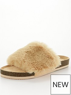 v-by-very-vox-faux-fur-slider-slipper-camel