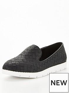 v-by-very-nutmeg-weave-flatform-loafer-black