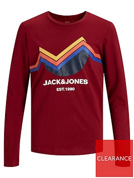 jack-jones-junior-boys-mountain-long-sleeve-t-shirt-sundried-tomato