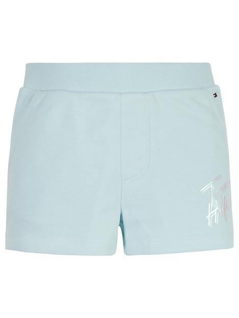 tommy-hilfiger-girls-script-print-sweat-shorts-light-blue