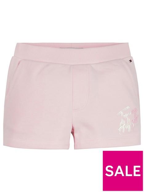 tommy-hilfiger-girls-script-print-sweat-short-light-pink