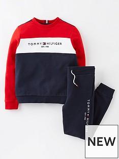 tommy-hilfiger-boys-colourblock-set-red