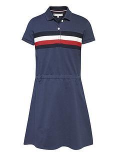tommy-hilfiger-girls-pique-polo-dress-navy