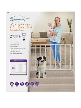 dreambaby-arizona-2-panel-extenda-gate-68-112cm--nbspwhitemetal