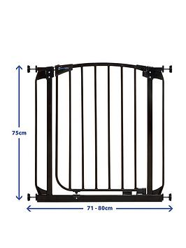 dreambaby-chelsea-auto-close-curved-top-gate-71-80cm-black