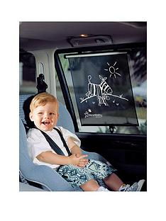 dreambaby-double-sided-zebra-and-tiger-print-car-window-roller-blinds-2-pack