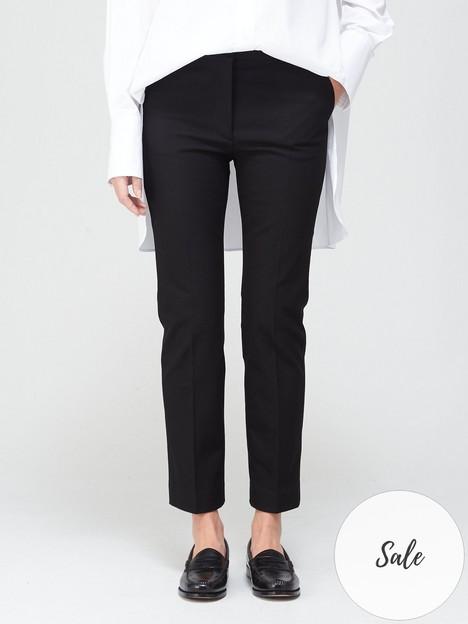 joseph-coleman-gabardine-stretch-trousers-black
