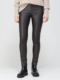 joseph-stretch-leather-leggings-black