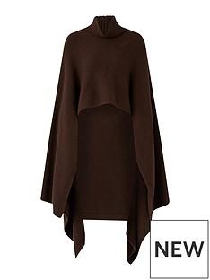 joseph-luxe-cashmere-poncho-chocolate