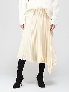 joseph-sabin-knit-weave-plisseacute-midi-skirt-ivory