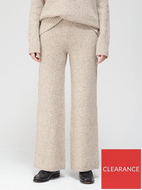 joseph-tweed-knit-wide-leg-trousers-beige