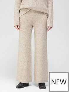 joseph-tweed-knit-wide-leg-trousers-beige