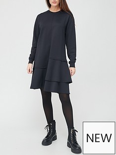 boss-midi-layered-dress-black
