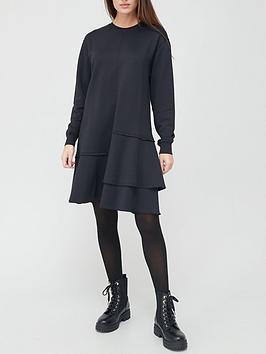 boss-midi-layered-dress-black