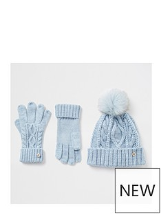 river-island-hat-and-glove-set-blue