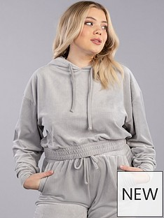 boux-avenue-ribbed-velour-hoodie-silver