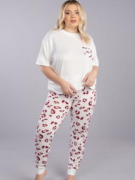 boux-avenue-leopard-t-shirtnbspand-legging-cream