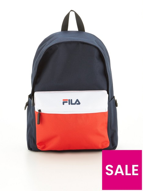 fila-block-colour-backpack-navywhitered