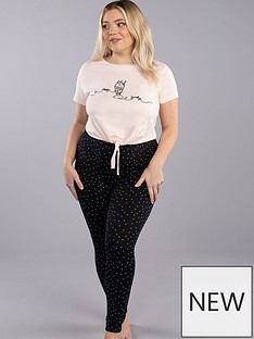 boux-avenue-happy-sunday-t-shirt-andnbspjogger-pinknbsp