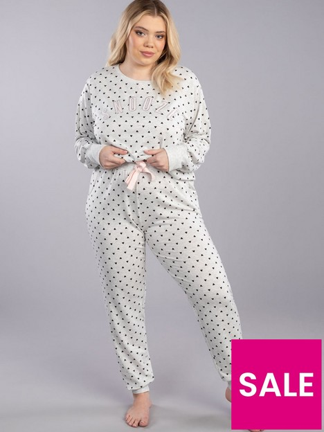 boux-avenue-snooze-heart-print-top-and-jogger-grey