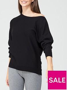 v-by-very-valuenbspsuper-soft-off-shoulder-batwing-knitted-jumper-black