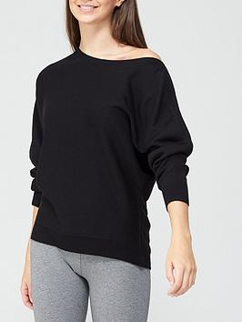 v-by-very-valuenbspsuper-soft-off-shoulder-batwing-knitted-jumper-black