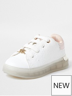 river-island-mini-mini-girls-monogram-trainers-white