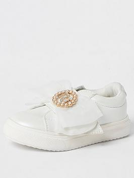 river-island-mini-mini-girls-organza-bow-trainers-white