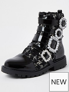 river-island-girls-bling-buckle-boucle-boots-black