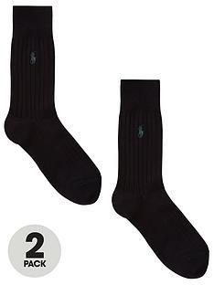 polo-ralph-lauren-2-pack-of-ribbed-socks-black