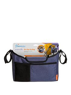 dreambaby-on-the-go-stroller-organiser-bag-blue-denim