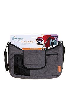 dreambaby-on-the-go-stroller-organiser-bag-grey-denim