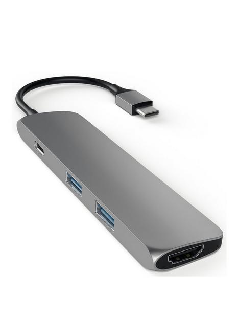 satechi-aluminium-type-c-slim-multi-port-adapter-4k-space-grey