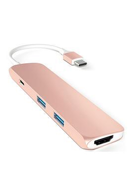 satechi-aluminium-type-c-slim-multi-port-adapter-4k-rose-gold