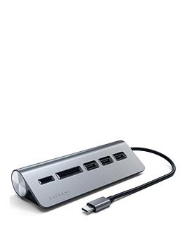 satechi-type-c-aluminium-usb-hub-card-reader-space-grey