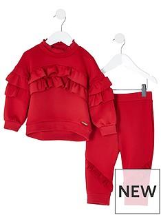 river-island-mini-mini-girls-frill-scuba-tracksuit-red